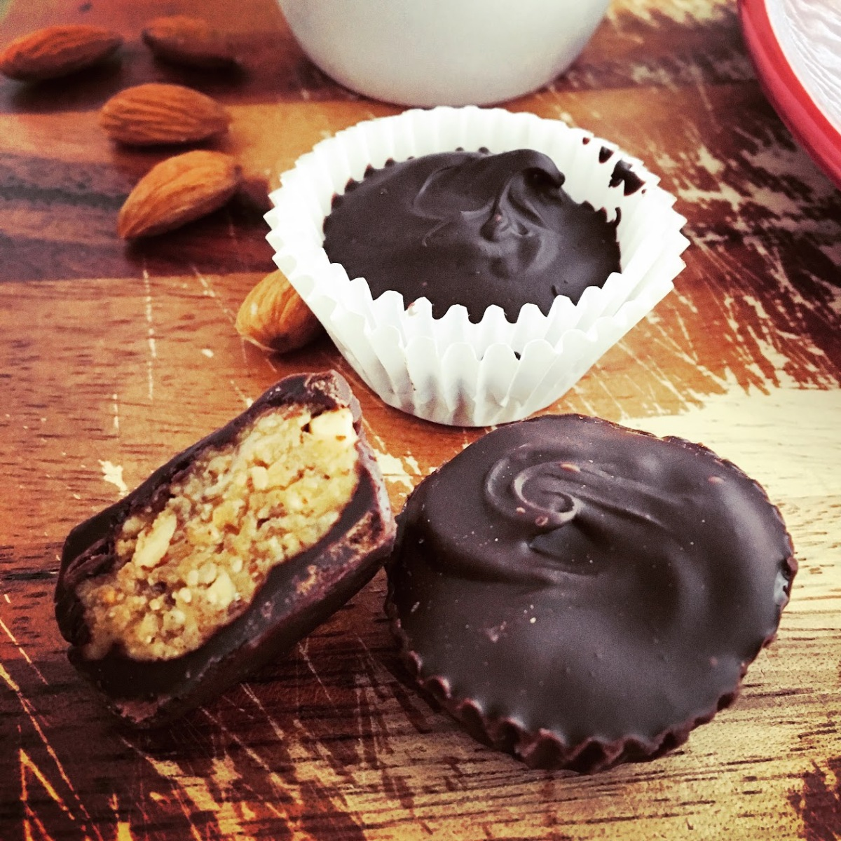 Dark Chocolate Almond Butter Cups (sugar-free!)